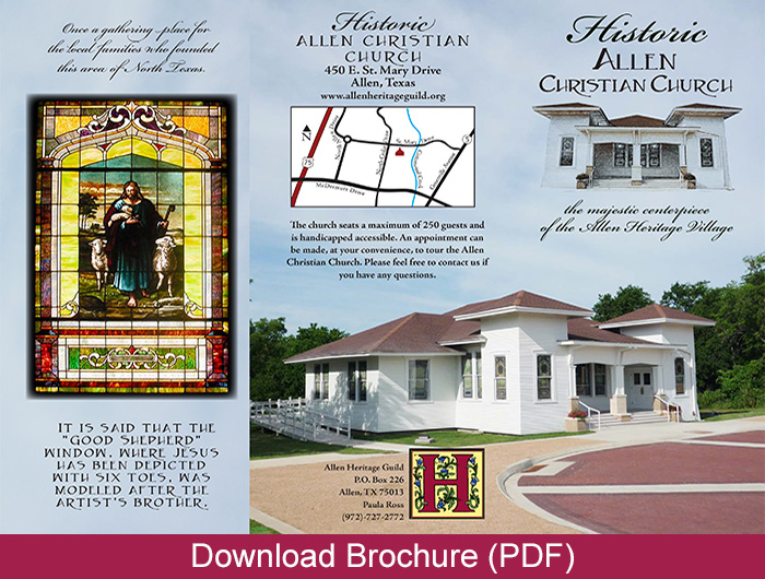allen christian church, wedding venue, event venue, historic church, heritage village, allen tx