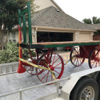 baggage cart moved to depot