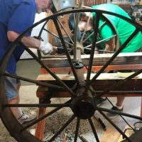removing rust from the baggage cart