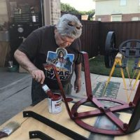 painting the baggage cart