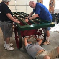 final assembly of baggage cart
